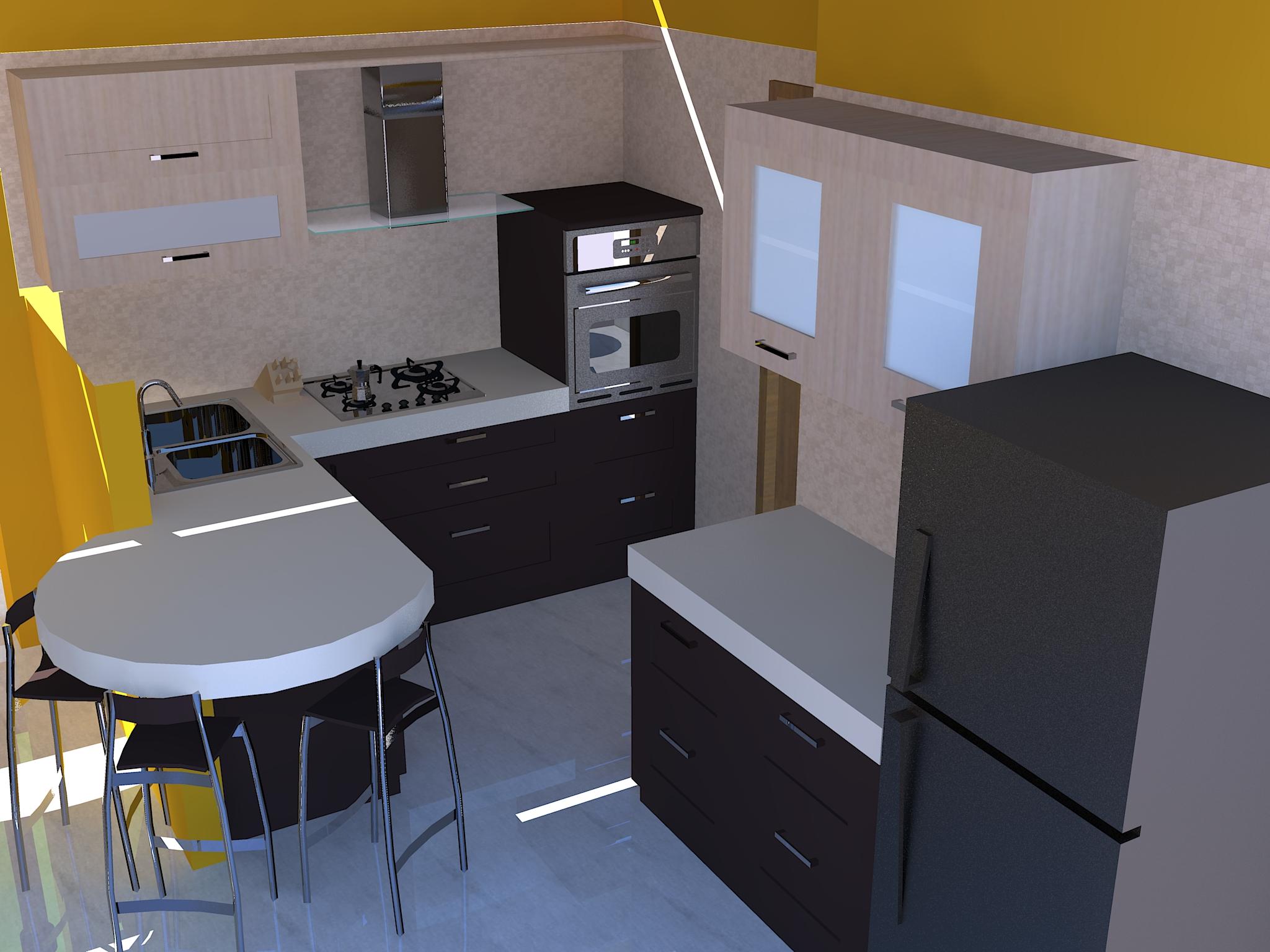 Soggiorno con angolo cottura casa design - Idee per arredare soggiorno con angolo cottura ...
